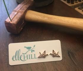 Rose Gold Origami Earrings